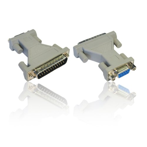 Adapter DB9 RS-232 bus naar DB25 Way 25-polige stekker inverteradapter