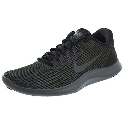Nike Womens Flex 2018 rn Fabric Low Top Lace Up Running, Black, Size 6.5