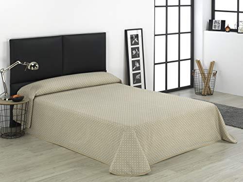 SABANALIA - Colcha Estampada Niza (Disponible en Varios tamaños) - Cama 90-180 x 280, Blanco