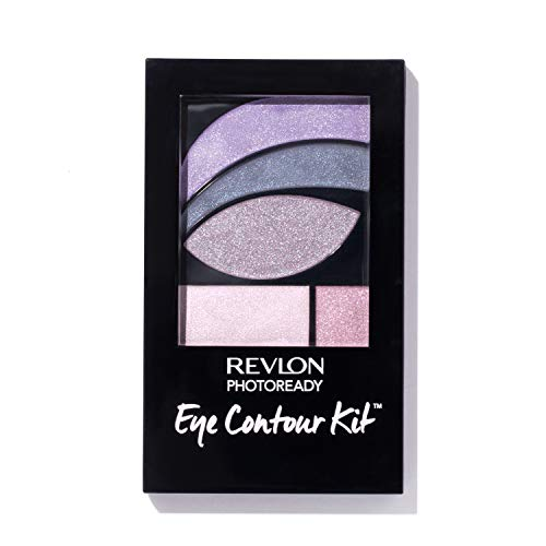 Revlon PhotoReady Eye Contour Kit, Eyeshadow Palette with 5 Wet/Dry Shades & Double-Ended Brush Applicator, Watercolors (520), 0.1oz