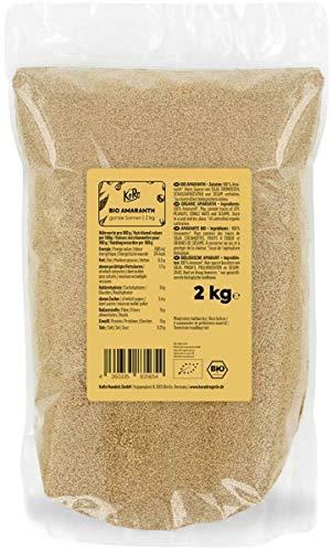 KoRo - Bio Amaranth 2 kg - Samen aus kontrolliert biologischem Anbau in der Vorteilspackung - Glutenfreie Alternative zu Getreide