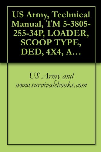 US Army, Technical Manual, TM 5-3805-255-34P, LOADER, SCOOP TYPE, DED, 4X4, ARTICULATED FRAM 4 1/2 TO 5 CU. YD., (CCE) ARMY MODEL H100C RB TYPE I WITH ... BUCKET (3805-01-052-9043) (English Edition)