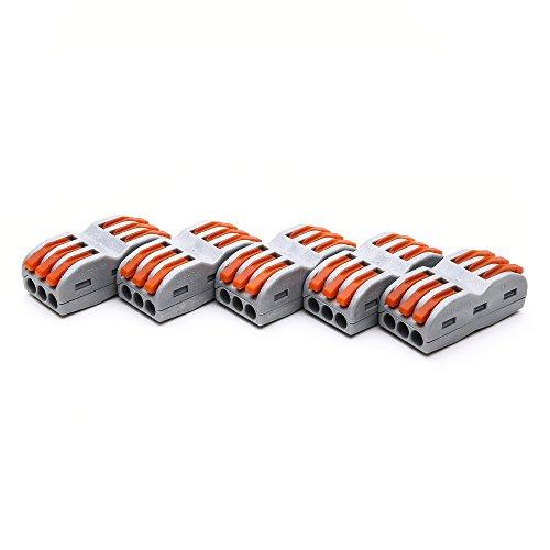Conector de empalme compacto 400 V, 28-12 AWG, PCT-SPL-3/222-413, Suyep