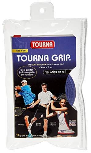 Tourna Grip Overgrip Da Tennis (Confezione Da 10 Grips), Blu, L