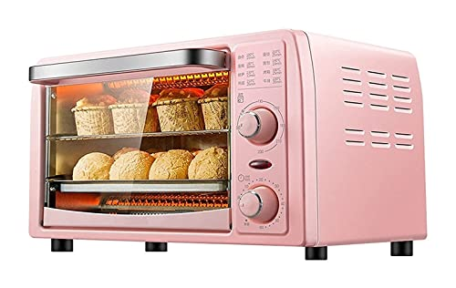 Horno eléctrico,Horno Sobremesa Freidora de aire del horno, horno automático multifuncional del horno del horno elegante del horno, 1 3L 1050W Horno de aire caliente, con temperatura y control de la p