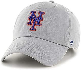 Brand Men's New York Mets Clean Up Dad Hat Cap Strapback Storm Grey
