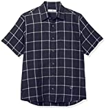 [ゴールデンベア] カジュアルシャツ ウインドペン半袖シャツ メンズ ネイビー 日本 M (日本サイズM相当)