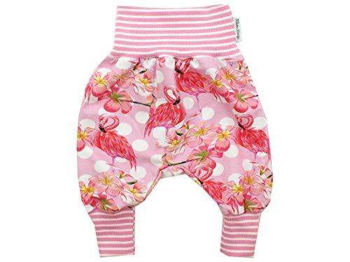 Kleine Könige Pantalon de pompage pour bébé Fille - Modèle Flamant Rose Paradise - Certifié Ökotex 100 - Tailles 50-128 - Rose - 5/6 Ans