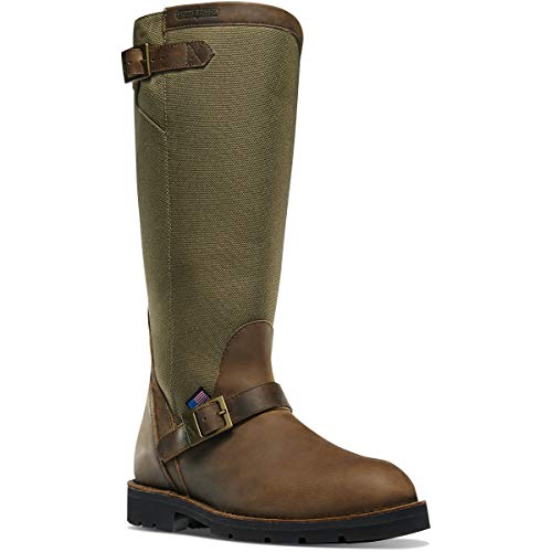 "Danner Men's 42757 San Angelo 17"" Hunting Snake Boot Western, Brown, 10.5 2E US"