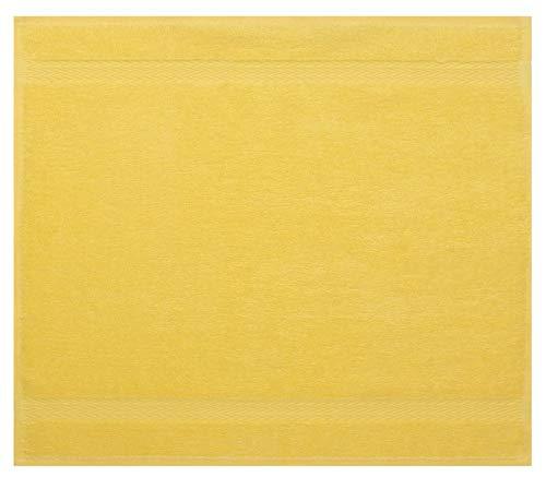 Betz Serviette débarbouillette Lavette Taille 30 x 30 cm 100% Coton Premium Couleur Jaune