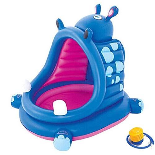 CNMDB Piscina para el hogar Piscina Inflable Plegable Gruesa, niños Diapositiva Interior Tienda Interior bebé bebé bebé tiburón océano Bola Piscina