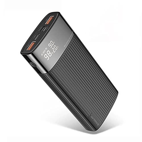 wwyy 20000mAh Power Bank Fast Cargador portátil Tipo C PD 3.0 + Carga rápida 3.0 USB PowerBank Batería Externa, por teléfono