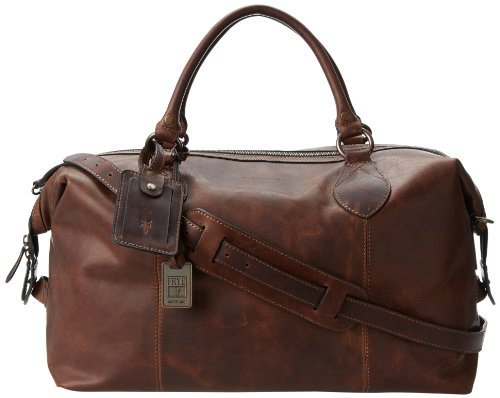 FRYE Men's Logan Overnight Duffle Bag, Dark Brown, One Size