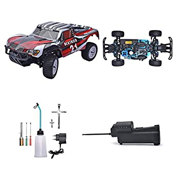 YDYL-LI 1/10 Th Scale HSP Nitro Rc Car 4Wd Oil-Driven Methanol Remote Control Buggy with 75Cc Fuel Tank and 2.4G Remote Control High-Speed Simulation Racing for Adult