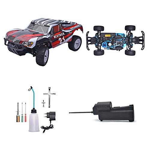 YDYL-LI 1/10 Th Scale HSP Nitro Rc Car, 4Wd Oil-Driven Methanol Remote Control Buggy, with 75Cc Fuel Tank and 2.4G Remote Control, High-Speed Simulation Racing for Adult