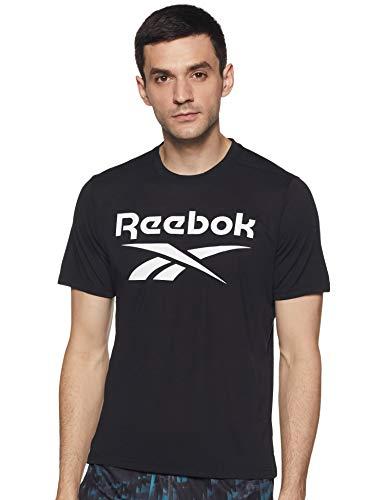 Reebok Wor Sup SS Graphic tee Camiseta, Hombre, Negro, M