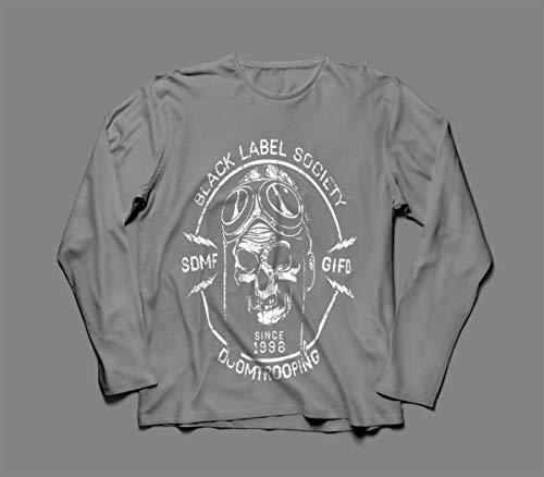 Camiseta/Camisa Manga Longa Masculina Black Label Society Tamanho:P;Cor:Cinza