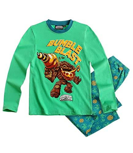 Skylanders Giants Pyjama 2 TLG. Langarm Schlafanzug (116, grün/bunt)
