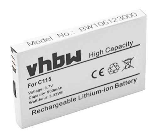 vhbw Akku passend für Motorola C115, C116, C117, C118, C121, C139, C140, C155, C156, V171 Handy Handy ersetzt Motorola SNN5749A(900mAh, 3.7V,Li-Ion)