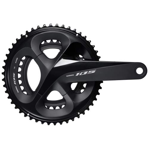 powerful SHIMANO 105 Twin Road Crankset – FC-R7000 (Black – 175mm, 53-39T without center of gravity, no BB parts)