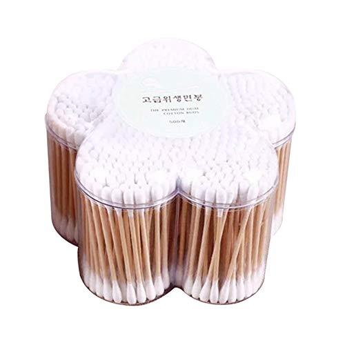 Beaurce Caja Forma Flor 500PCS Bastoncillos algodón