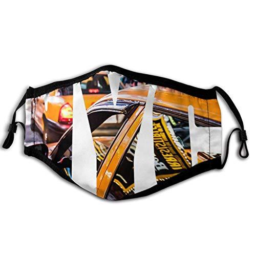 Amarilla Cab New York reutilizable protector para hombres y mujeres moda variedad cabeza bufanda pasamontañas para polvo, sol y polvo al aire libre, deportes