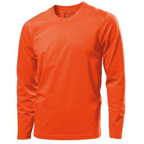 Hanes - T-Shirt - Homme - Orange - Orange - Petit