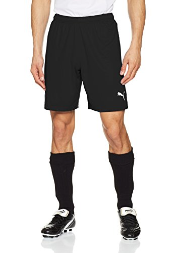 Puma Herren Liga Shorts Hose, Black White, L