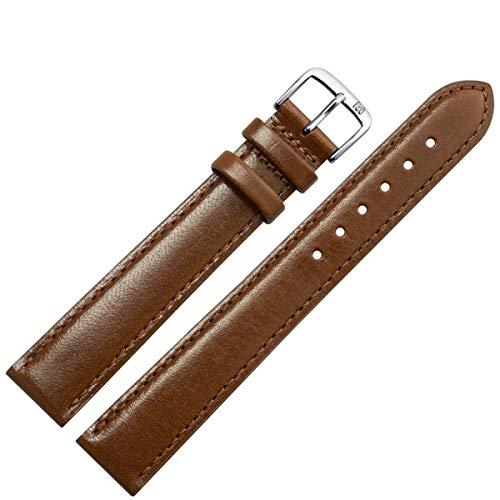 MARBURGER Uhrenarmband 14mm Leder Braun XL - Werkzeug Montage Set 6601432000120