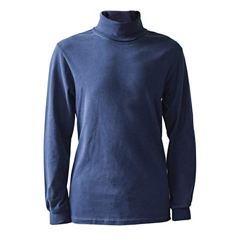 Navy Men's 100% Combed Cotton Supersoft Relaxfit Casual Ski Turtleneck (XX-Large)
