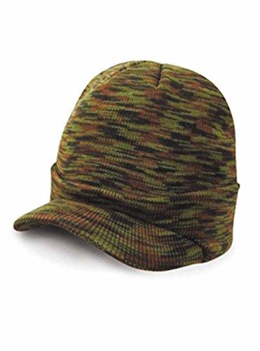 Result - Bonnet Casquette visière RC60 - Laine - Mixte Adulte - Coloris Camouflage