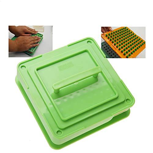 Salmue Máquina Manual de llenado de cápsulas, 2 Tipos de 100 Hoyos de Relleno de cápsulas vacías con Placas de esparcidor de Polvo Herramienta de llenado de cápsulas, certificación FDA(00#)