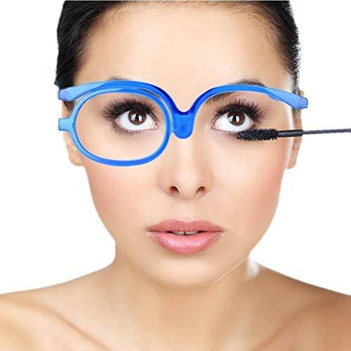 Ingrandisci Occhi Trucco Occhiali Occhiali rotanti a lente singola Strumento essenziale per il trucco delle donne(250)