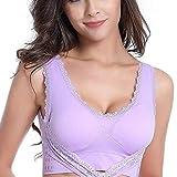 KLMI Sujetador Run Shock Absorber para Mujer, Sujetador Super Comfort, Talla Ajustable, Ropa Deportiva de Entrenamiento con Extensor de Sujetador-Purple-XL