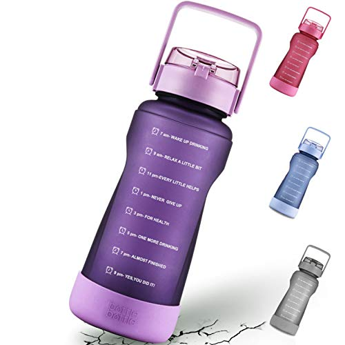BOTTLE BOTTLE Half Gallon Water Bottle with Time Marker and
