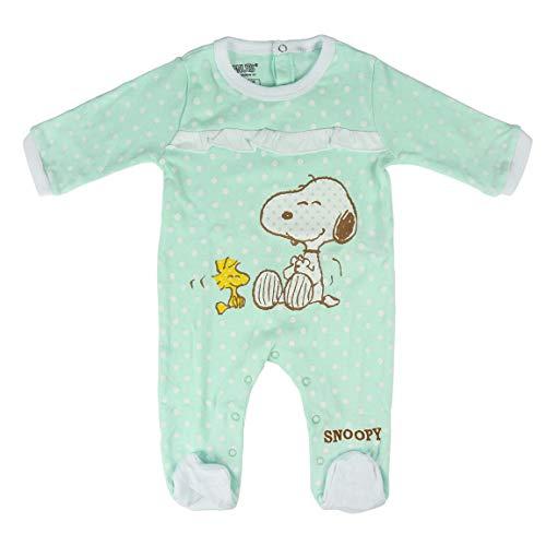 Artesania Baby-Mädchen Pelele Snoopy Strampler, Türkis (Turquesa C23), One Size (Herstellergröße: 18M)