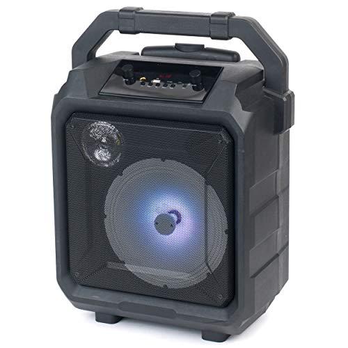 Intempo® EE4551STKEU Tempo Trolley-Lautsprecher mit Mikrofonanschluss und LED-Leuchten, 20W, schwarz