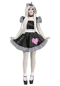 Fun World Broken Doll Adult Costume Medium/Large Black,White