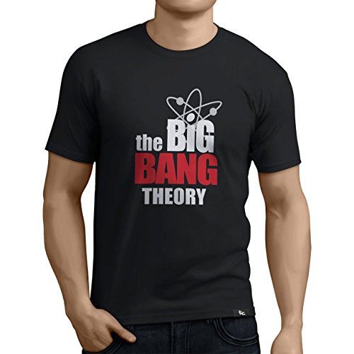 Tuning Camisetas - Camiseta Divertida para Hombre - Modelo thebigbangtheory, Color Negro- Talla L (0209-Negro-the-big-bang-theory-L)