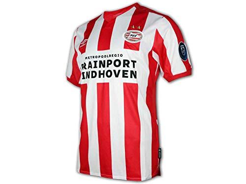 UMBRO PSV Eindhoven Heim Trikot 19/20 rot Fußball Fan Jersey PSV Home Shirt, Größe:XXL