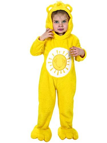 Generique Sonnenscheinbärchi-Lizenzkostüm für Kleinkinder Glücksbärchis Gelb 92/98 (2-3 Jahre)