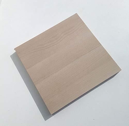 1 Massivholzplatte Buche 29mm stark. Holzplatte Bretter Leisten Sondermaße. (800x600x29mm stark.)