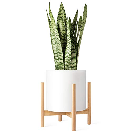 Mkono Plant Stand Mid Century Wood Flower Pot Holder (Plant Pot NOT...