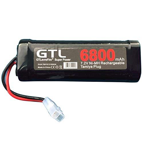 Preisvergleich Produktbild 6800mAh 7.2V NiMh RC Spielzeug-Batterie Wiederaufladbare Wohnung Rennwagen Ersatz-Akku für RC Flugzeug-Hubschrauber-Boot (schwarz) DEjasnyfall