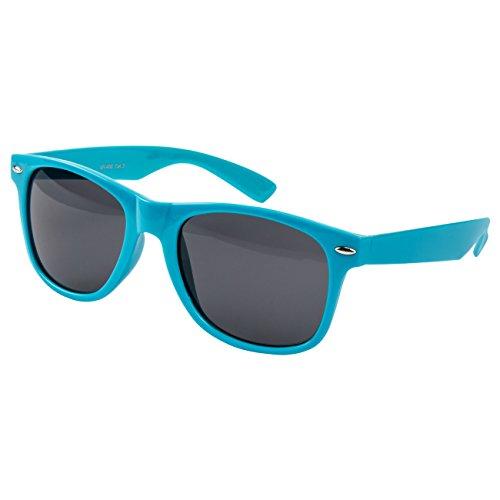 Ciffre EL-Sunprotect® Nerdbrille Brille Nerd Sonnenbrille Hornbrille Streber Türkis
