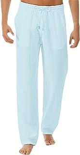 ORANDESIGNE Uomo Pantaloni Harem Pants Estate Casual Baggy Leggero Traspirante Tinta Unita Tinta Unita Lungo Pantaloni con...