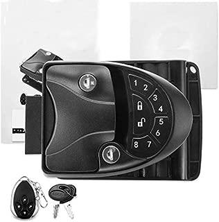 MKING RV Keyless Entry Door Lock Handle Latch, 20Meter Wireless Remote Control for Trailer Caravan Camper Lock with Keypad & Fob