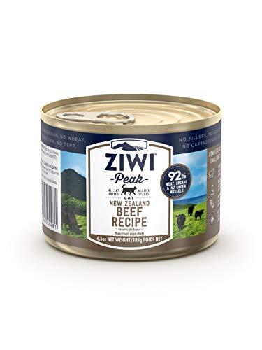 ZiwiPeak natte voering voor katten, 6.5oz can (Case of 12), Beef