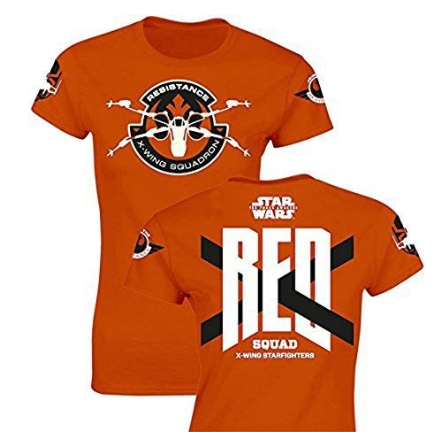 SD toys - T-Shirt - Star Wars Episode 7- Femme Red Squad Orange Taille L - 8436546899389