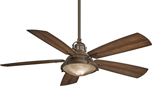 Minka-Aire F681-ORB Groton 56' Ceiling Fan with Light & Remote Control, Oil Rubbed Bronze